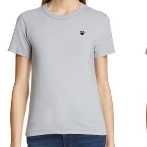 New Comme des garçons grey play tee shirt s